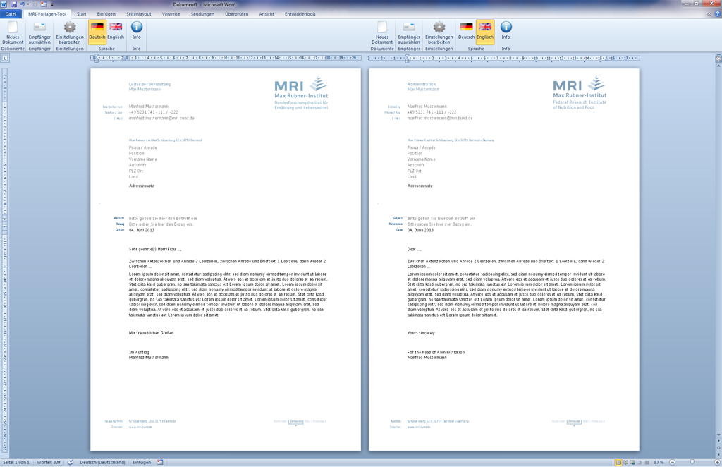 Eworks Referenz Programmierung Mehrsprachiger Microsoft Word